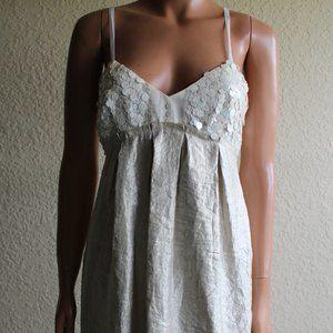 Vera Wang Lavender Label Gold Sequin Dress